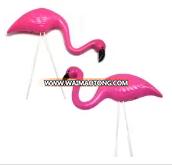 2 small Pink FLAMINGO mini Lawn Ornaments YARD art decor