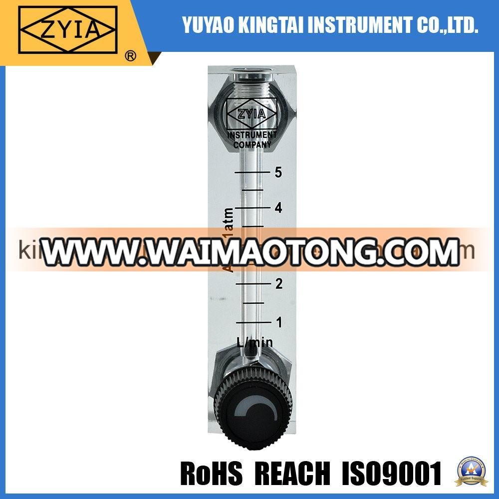 Gas Measuring Instruments : Gas air flowmeter acrylic rotameter panel type flow meter