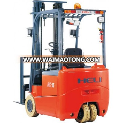 ype: G Series 1-2T Three Wheel AC Electric Forklift Trucks