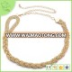 2016 high quality gold waist chain belt for women dress