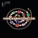 Coloured women's belly dance waist chain