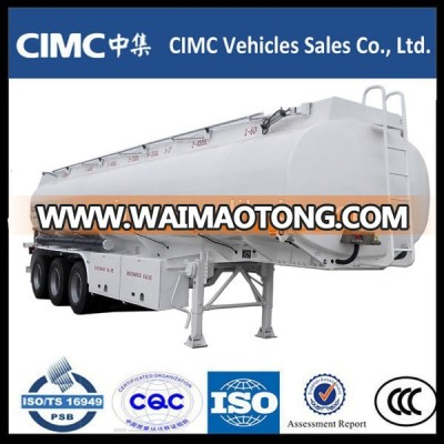 Cimc 3 Axle Fuel Tanker / Fuel Tank Trailer 30KL For Philippines Market