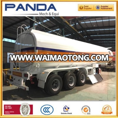 Panda 3 Axle Fuel Tanker Trailer 40CBM Diesel Fuel Tank For Sale