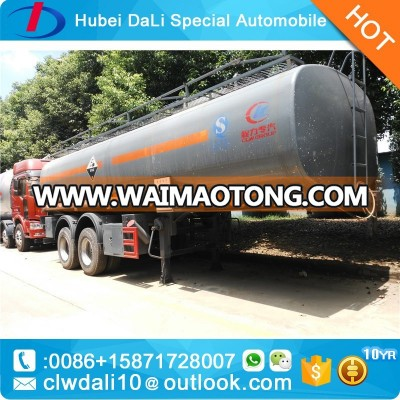 Flammable liquid 27000l aluminum oil tank trailer truck semitrailer