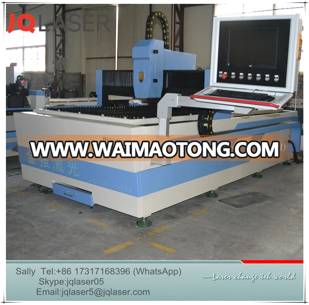 Customized Model Jq1530 500W Fiber Laser Cutting Machine for Metal Cutting