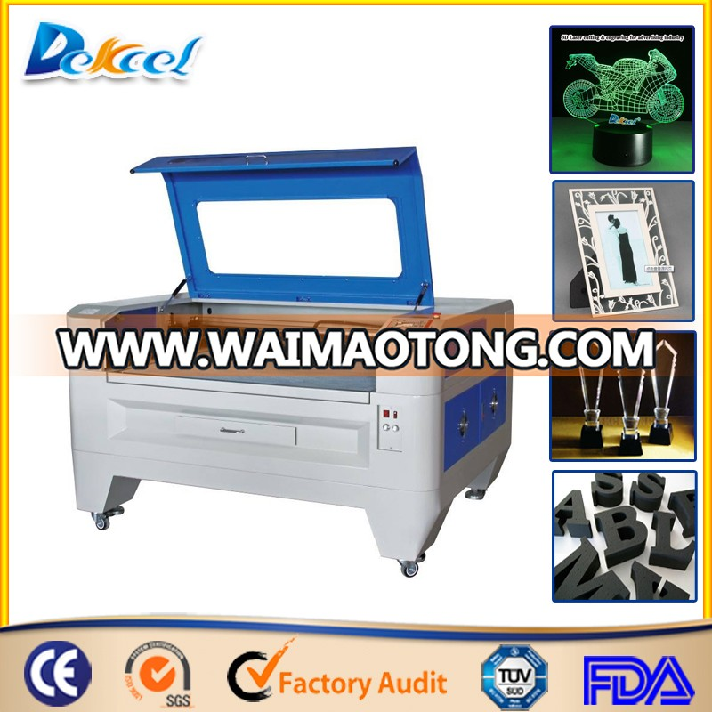 Hot Sale 100W CO2 Laser Cutter Engraving 10mm Acrylic/MDF/Leather 9060