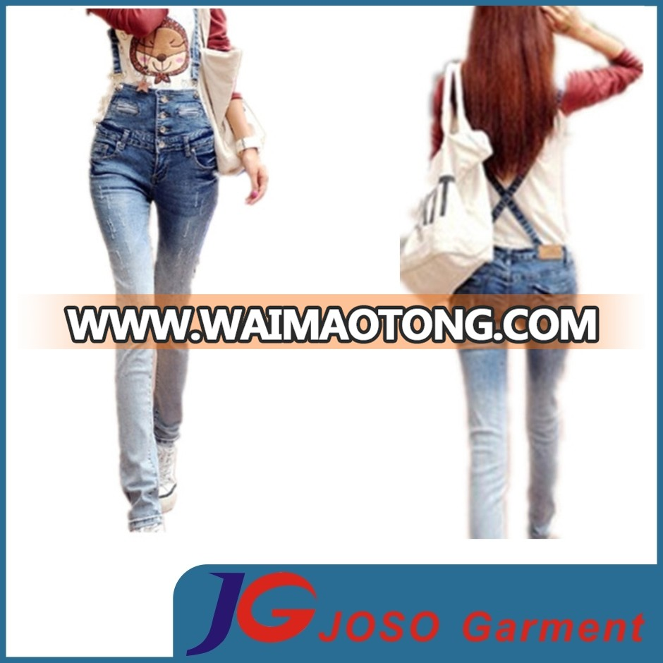 Interested in High Waisted Back Cross Women Suspenders Jeans (JC1213)