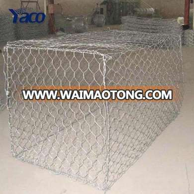 Hexagonal gabion wood box retaining wall wire mesh