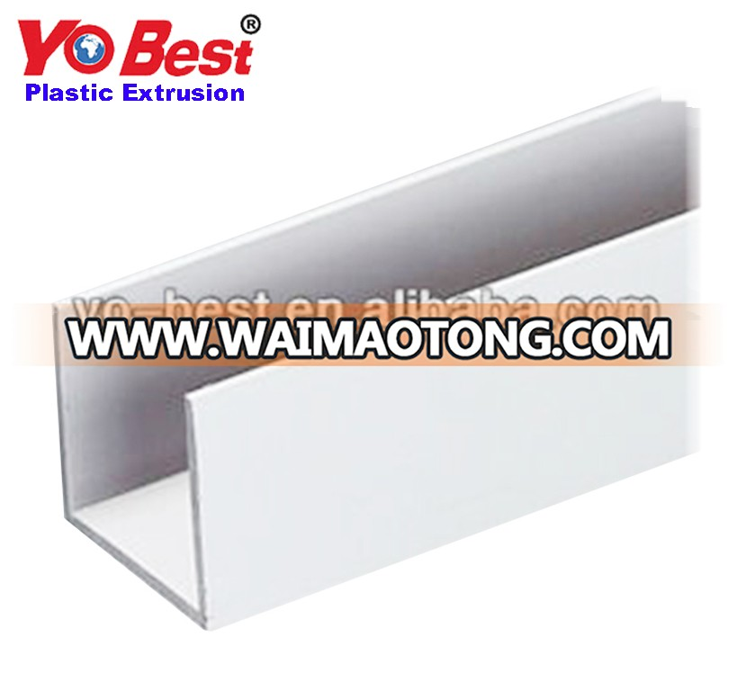 Plastic Extrusion profile PVC U channel which upvc profile manufacturers in China