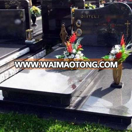 China Manufacturer Simple Style Grey Granite Headstone