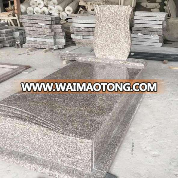 Cheap Natural Stone Red Grave Poland Blank G664 Granite Tombstone