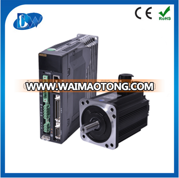 Induatrial AC servo motor 1kw with driver 130mm 1000rpm