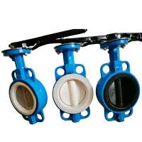 GOST Valve Russian standard wafer type butterfly valve DN150 DN 80 DN250 DN20 Resilient Ductile Iron