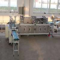 fully automatic mask machine Non-woven medical mask machine one drag two plane mask all-in-one machi
