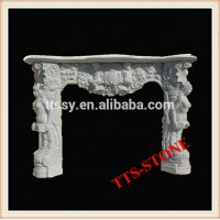 Italian stone fireplace mantel