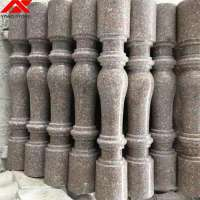 G606 white granite baluster and railings for outdoor stairs prices