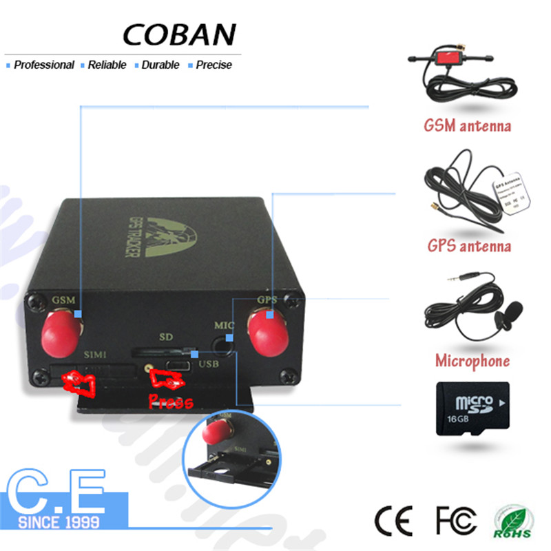Vehicle GPS Coban Tracker Alarm System RFID Remote Control Snapshoot Photo Auto