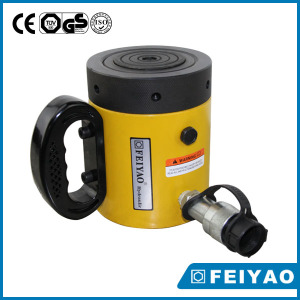 High Quality Single Acting Pancake 100 Ton Lock Nut Cylinder